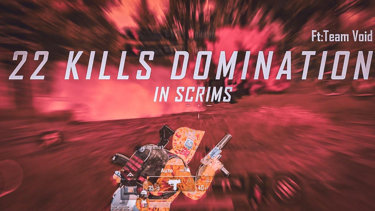 MALLU SCRIMS 22 KILLS DOMINATION GAMEPLAY || AGGRESSIVE GAMEPLAY || TEAM VOID