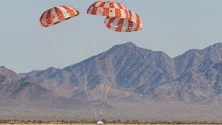 Final Orion Spacecraft Parachutes Test, 12 September 2018