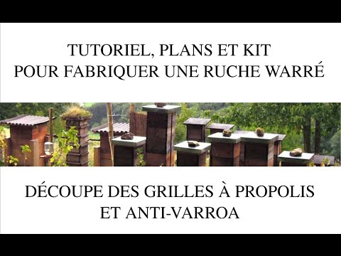 d coupe des grilles anti varroa 2 8 youtube. Black Bedroom Furniture Sets. Home Design Ideas