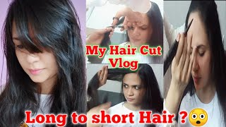 My hair cut vlog to nearest beauty parlour | Long to short hair ?