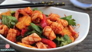 Vietnamese sweet and spicy squid (Mực xào cay ngọt)