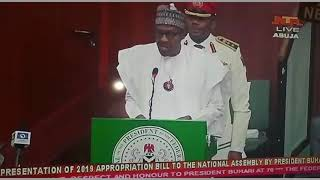 President Buhari Booed When He Said Economy is Out of Recession.