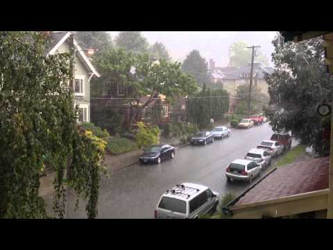 Portland lighting + hail 2014