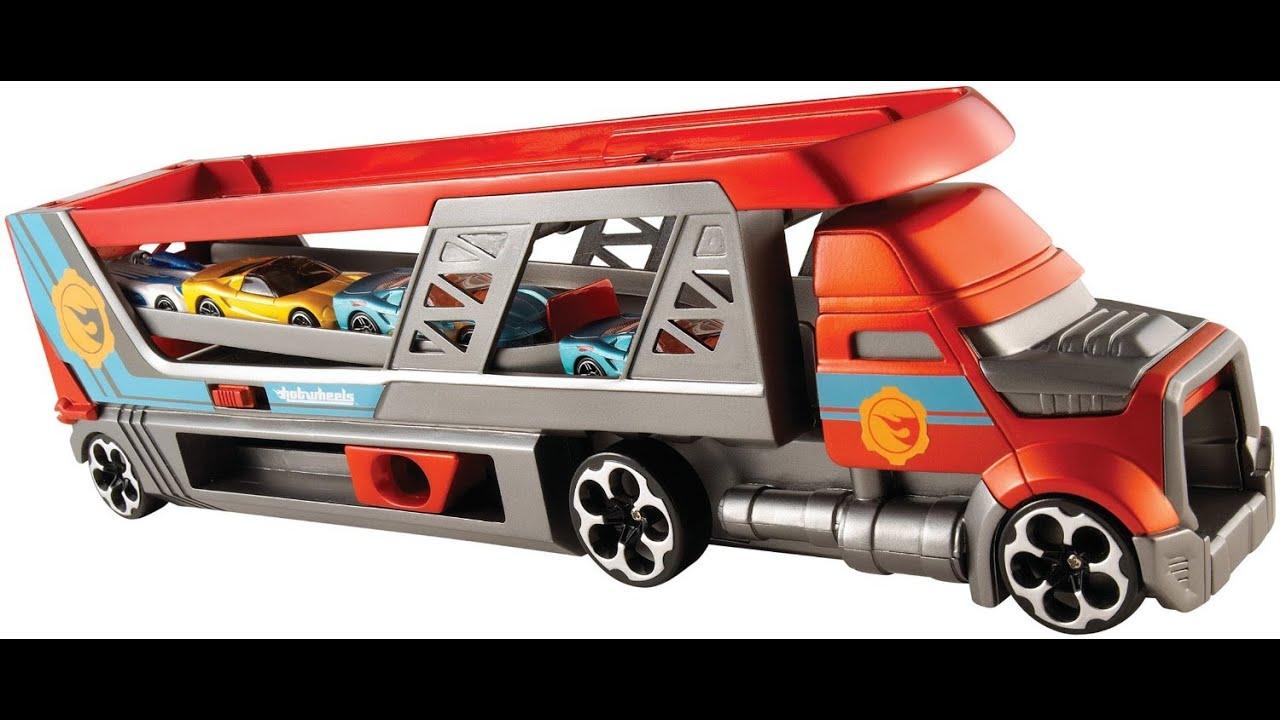 Hot Wheels Toy Car Holder Truck : Hot wheels city blastin rig truck toy for children