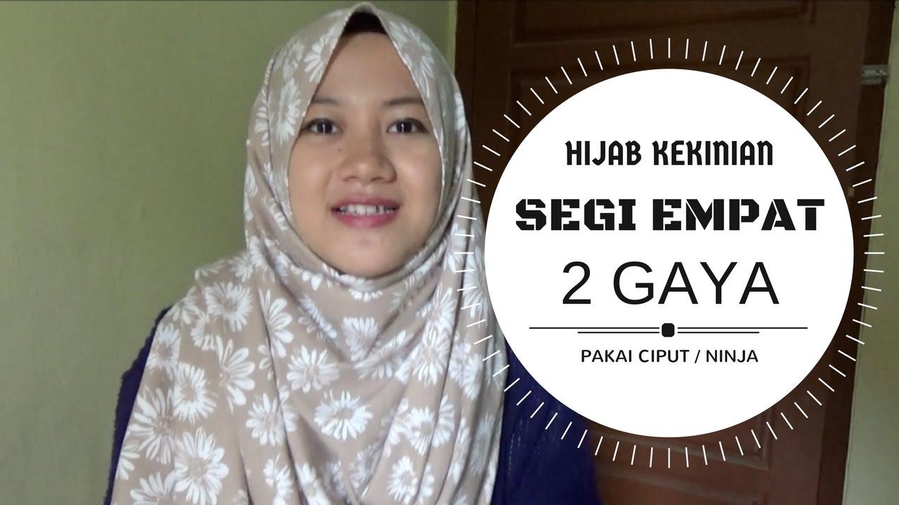 Tutorial Hijab SEGI EMPAT Kekinian Terbaru Pakai Ninja NMY Hijab