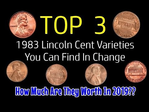 TOP 3 1983 Lincoln Penny Varieties Found In Change - What Are They