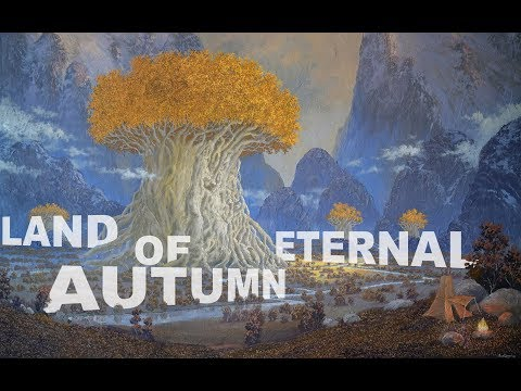 Oil painting time lapse | Land Of Eternal Autumn