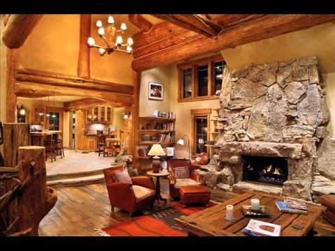 Log Home Living Room Decorating Ideas Lowes For Rooms I Interior Youtube