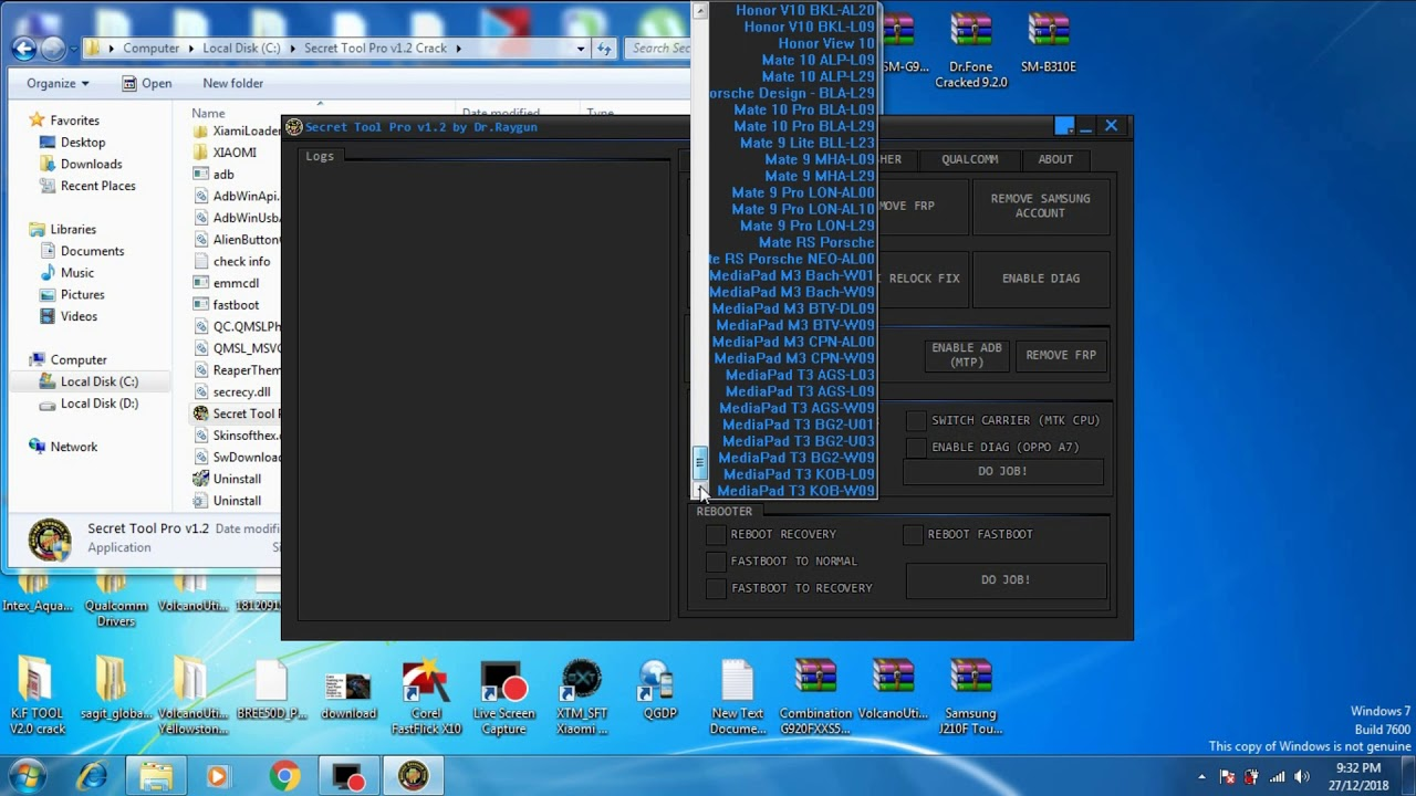 Secret Tool Pro V1 2 Crack|| Download Link|| Honor,  Huawei,Mi,Vivo,Samsung[Oppo FRP Tool by AL-Ameen Computer