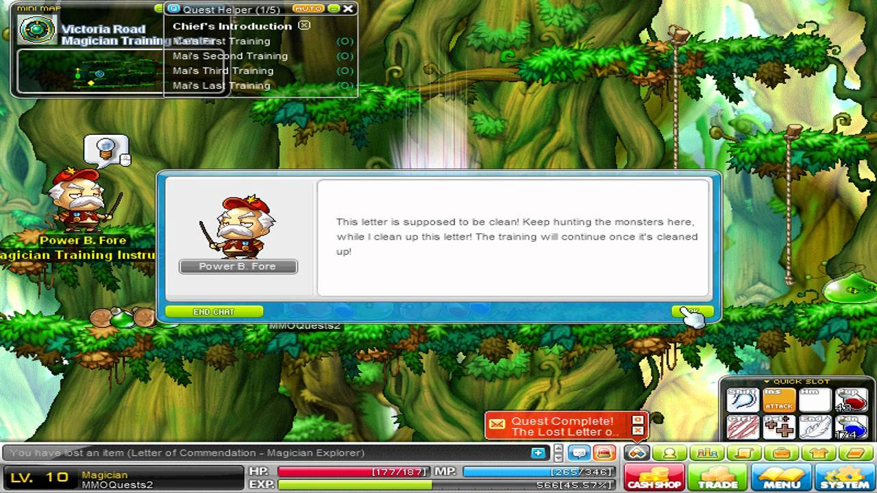 Maplestory Quest The Lost Letter Of Commendation Magician  Youtube