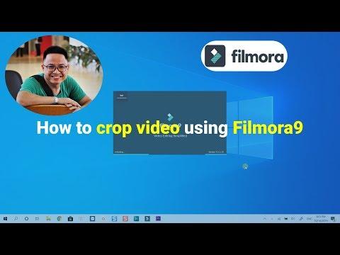 How to crop video using Filmora 9