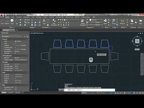 drawing-basic-furniture-(dining-room)-in-autocad