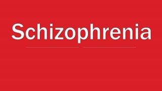 Psychiatry Lecture: Schizophrenia