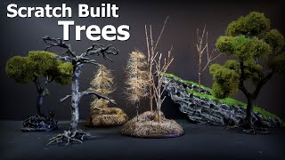 How to Build Miniature Trees - 4 Ways to Build Easy Trees and bases for Wargaming Terrain