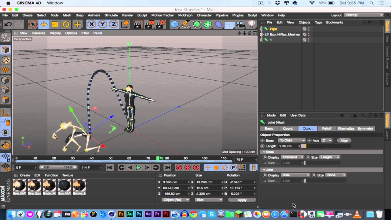 How to link animations in Cinema 4D