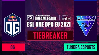 Dota2 - OG vs. Tundra Esports - Game 1 - DreamLeague Season 14 DPC: EU - Tiebreaker