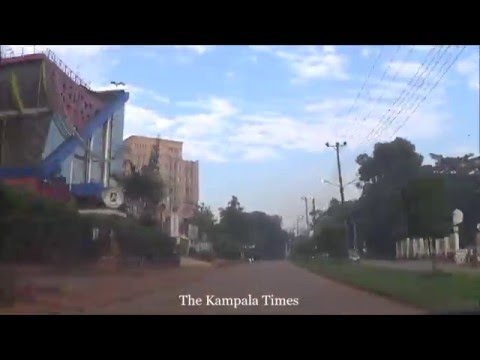 Driving through Kampala City - Yusuf Lule Road