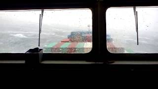 Container Ship in bad weather...