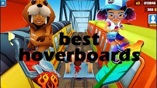 Top 5 Hoverboards in Subway Surfers
