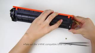 How replace the reset chip for HP 17A CF217A Toner Cartridge