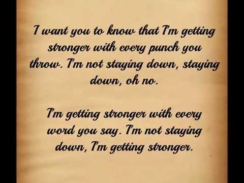 Building 429 - Stronger (lyrics)