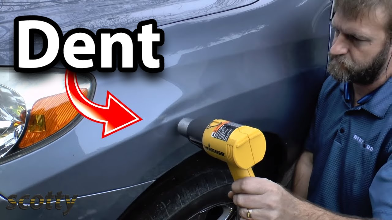 How to remove car dent without having to repaint diy