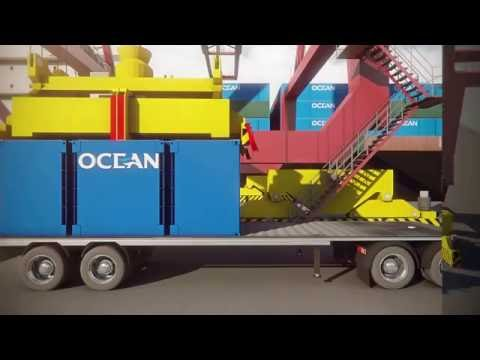 Ocean container barges