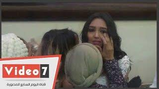دموع حبيبة كريمة إيهاب جلال بعد عقد قرانها على عمرو بركات