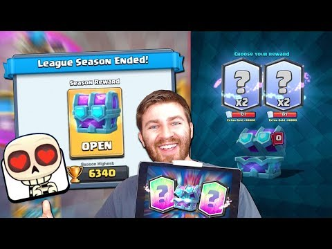 BEST 6340 TROPHY NEW CHEST OPENING! DOUBLE LEGENDARIES!   Clash Royale BEST DRAFT CHEST OPENING!