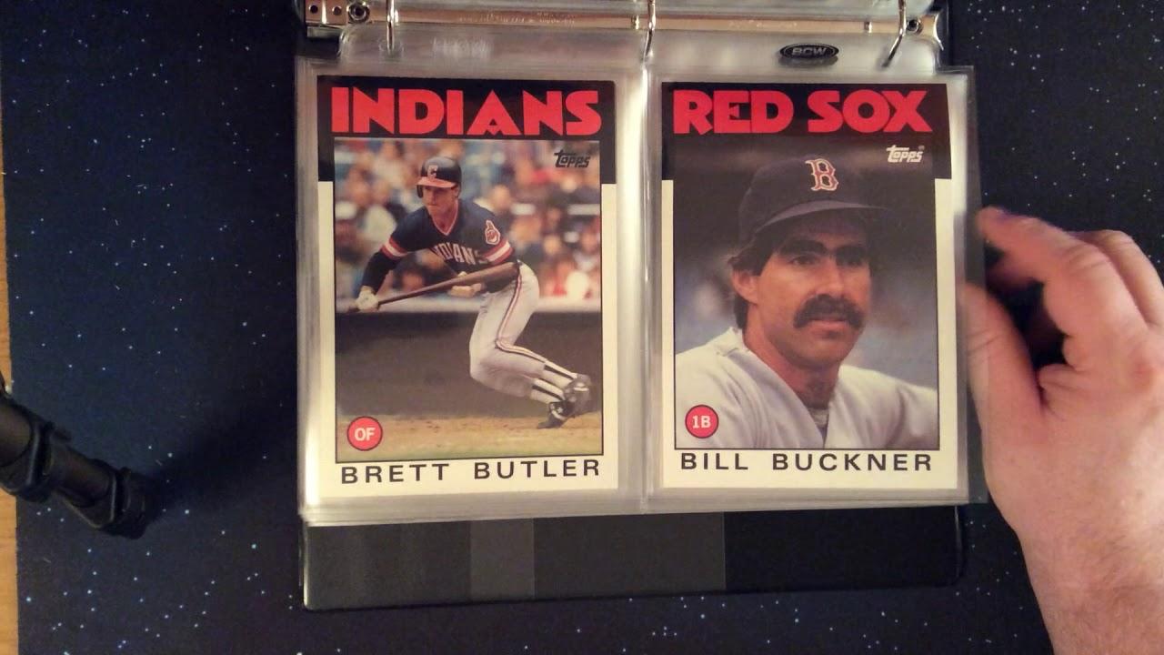1986 Topps Super 5 X 7 Baseball Card Set