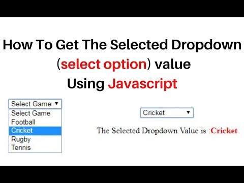 javascript get dropdown (select option) selected value