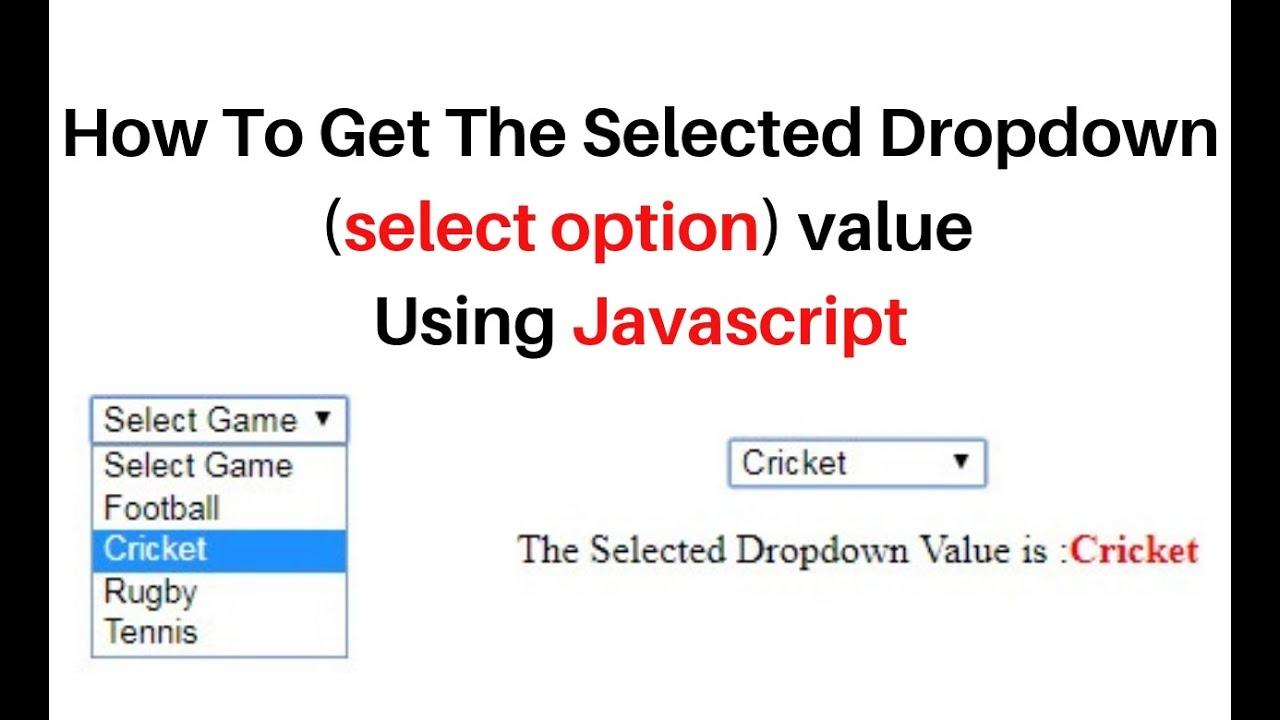 javascript get dropdown (select option) selected value onchange label