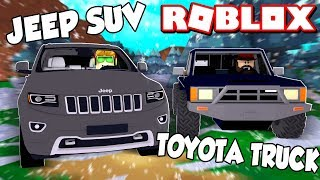 BUYING TWO NEW CARS JEEP AND TOYOTA in ROBLOX VEHICLE SIMULATOR | DRAG RACES | CAR STUNTS