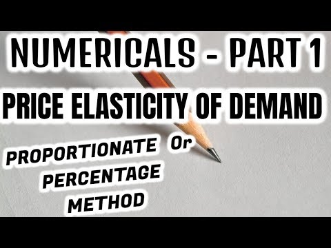54 Numericals Price Elasticity Of Demand Part 1