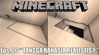 TANGGA RAHASIA TAK TERLIHAT! REDSTONE! - Minecraft Survival Indonesia #26