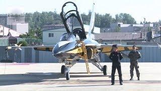 South Korea's Black Eagles T-50 Pre-Flight And Taxiing at Osan Air Base | AiirSource