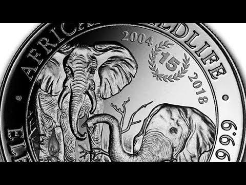 2018 Somalia 1 oz Silver Elephant 15th Anniversary Coin!