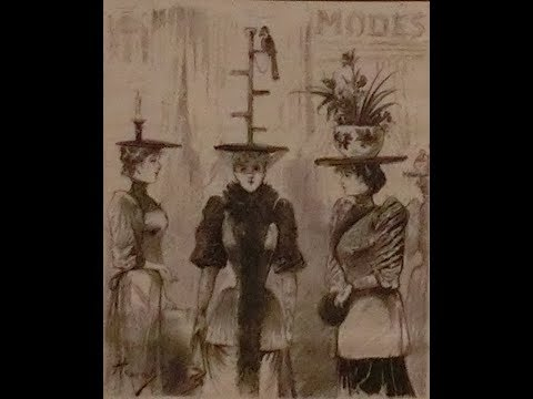 Women's Hats - Paris Fashion 1890