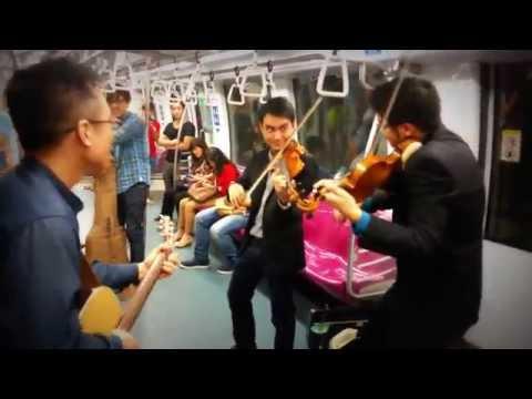 Lorong Boys, Amazing Musicians in Singapore MRT!!