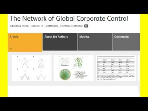WORLD BANK BANKSTERS NETWORK OF GLOBAL CONTROL 2011 SWISS STUDY EXPOSED BY KAREN HUDES