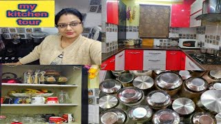 My modular kitchen tour/kitchen ideas/indian kitchen organization/full kitchen tour