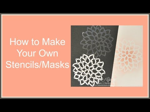 Quick Crafting Tip - How to Make Your Own Stencils-Masks