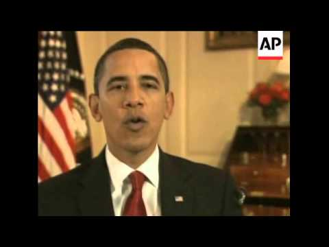 Obama on economic crisis, stimulus package in weekly address
