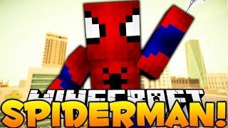 Minecraft I AM SPIDERMAN (Super Hero Smash) Spooderman
