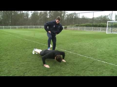 Grimmy trains with Tottenham Hotspur