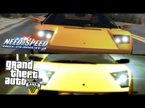 GTA 5 Vs NFS Hot Pursuit 2002! Side By Side NFS Hot Pursuit 2002 Trailer Recteated In GTA 5!