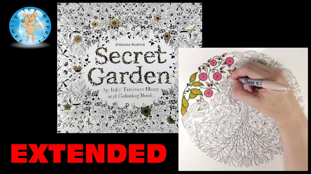 Secret Garden By Johanna Basford Adult Coloring Book Peacock Extended