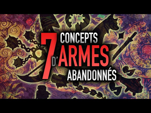 7 Concepts d'armes abandonnés de Monster Hunter
