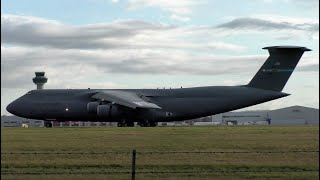 President Trump Movements at Stansted Airport | C-5M Galaxys & Helicopters