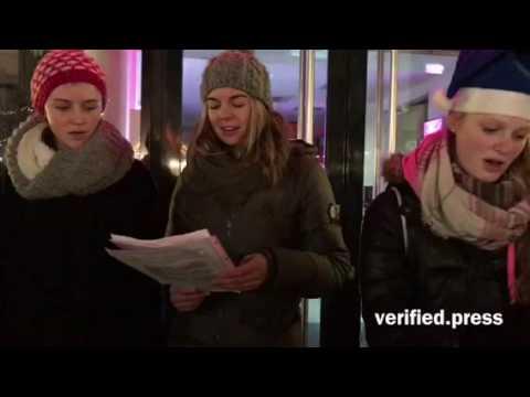 German teens sing Christmas song